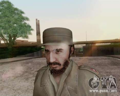 Fidel Castro para GTA San Andreas tercera pantalla