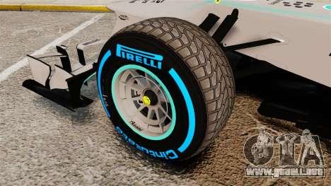 Mercedes AMG F1 W04 v2 para GTA 4 vista hacia atrás