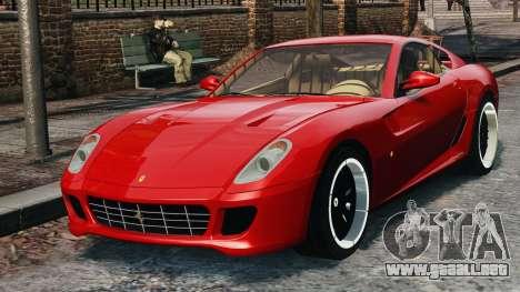 Ferrari 599 GTB Hamann 2006 para GTA 4 vista hacia atrás