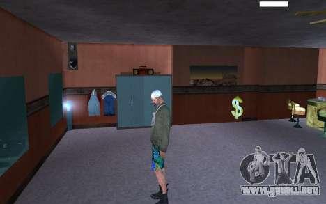 HD piel vago para GTA San Andreas quinta pantalla