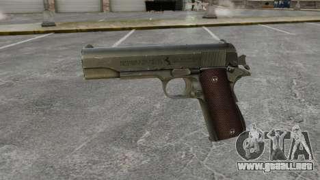 V5 pistola Colt M1911 para GTA 4 tercera pantalla