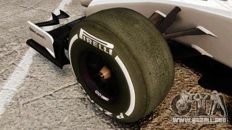 McLaren MP4-29 para GTA 4 vista hacia atrás