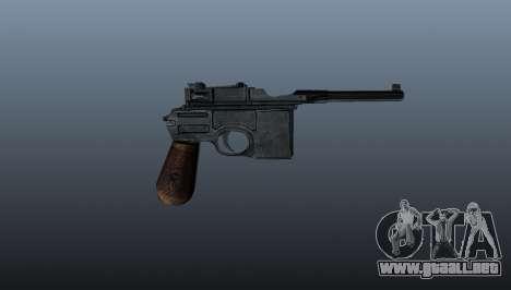 Mauser C96 pistola autocargable para GTA 4 tercera pantalla