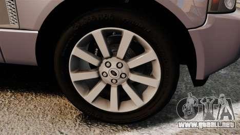 Range Rover Supercharged para GTA 4 vista hacia atrás