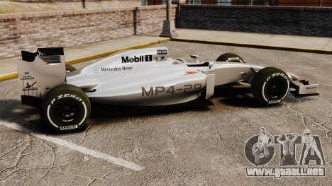 McLaren MP4-29 para GTA 4 left