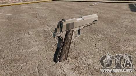 V3 pistola Colt M1911 para GTA 4 segundos de pantalla