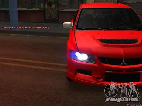 Mitsubishi Lancer Evo VIII para GTA San Andreas vista hacia atrás