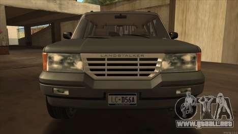 Landstalker HD from GTA 3 para GTA San Andreas vista posterior izquierda
