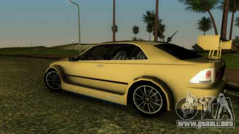 Lexus IS200 para GTA Vice City vista lateral