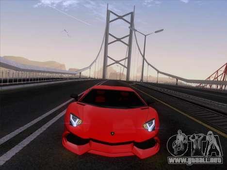 Lamborghini Aventador LP720-4 2013 para GTA San Andreas vista hacia atrás