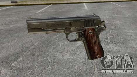 V4 pistola Colt M1911 para GTA 4 tercera pantalla
