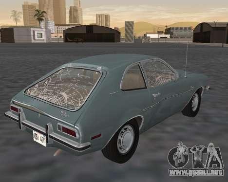 Ford Pinto 1973 para GTA San Andreas interior