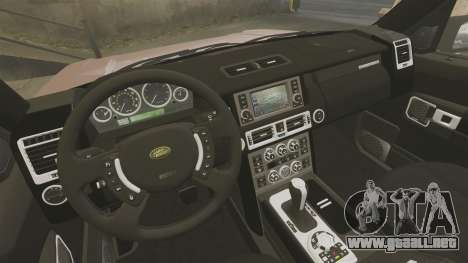 Range Rover TDV8 Vogue para GTA 4 vista interior