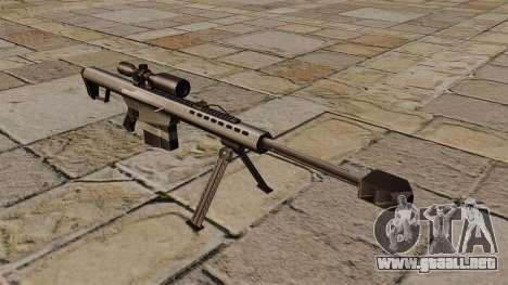 Rifle de francotirador Barrett M82A1 para GTA 4