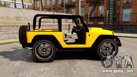 Jeep Wrangler Rubicon 2012 para GTA 4 left