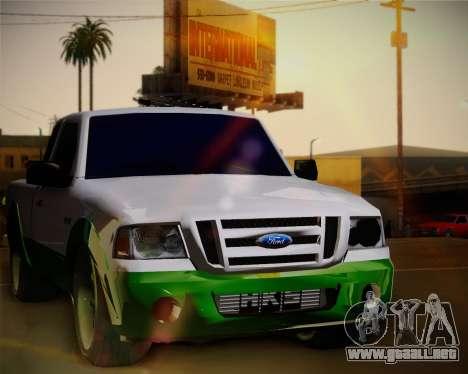 Ford Ranger 2005 para GTA San Andreas vista hacia atrás
