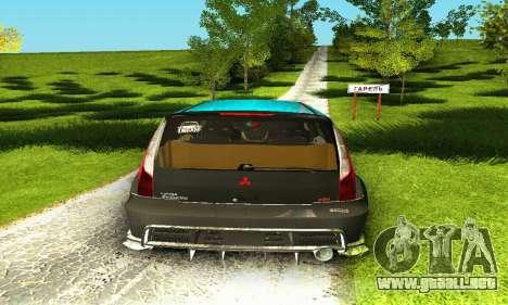 Mitsubishi Evo IX Wagon S-Tuning para la vista superior GTA San Andreas