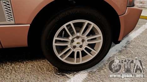 Range Rover TDV8 Vogue para GTA 4 vista hacia atrás
