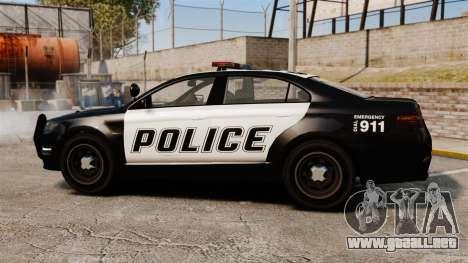GTA V Vapid Police Interceptor para GTA 4 left
