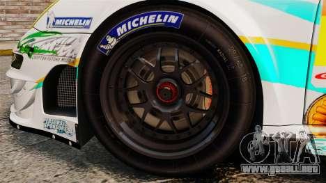 Porsche GT3 RSR 2008 Hatsune Miku para GTA 4 vista hacia atrás