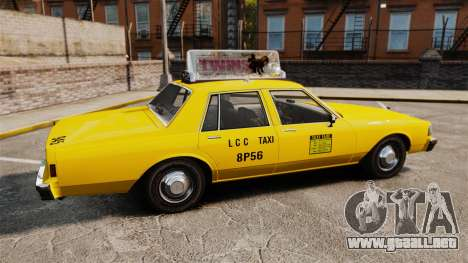Chevrolet Caprice 1987 L.C.C. Taxi para GTA 4 left