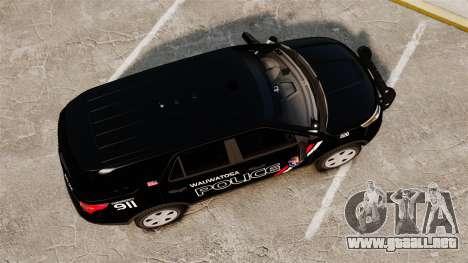 Ford Explorer 2013 Utility - Slicktop [ELS] para GTA 4 visión correcta