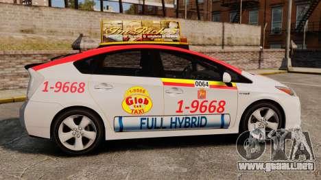 Toyota Prius 2011 Warsaw Taxi v4 para GTA 4 left