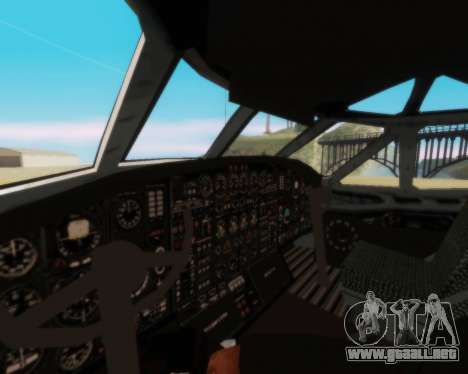 El an-12 Aeroflot para vista lateral GTA San Andreas