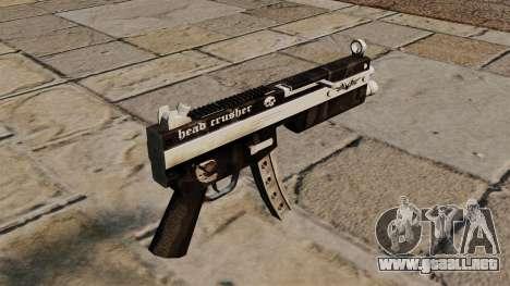 La metralleta MP5 Head Crusher para GTA 4 segundos de pantalla