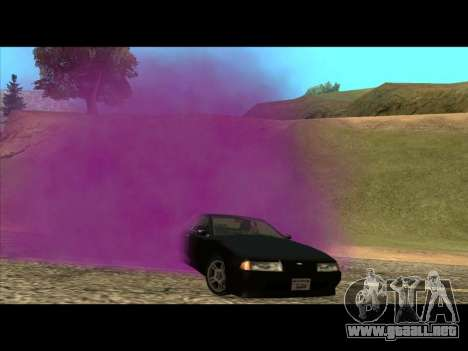 El nuevo color de humo por debajo de las ruedas para GTA San Andreas
