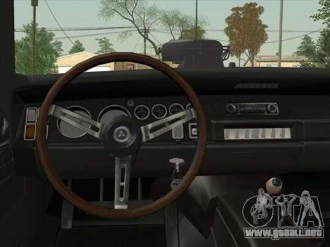 Dodge Charger RT V2 para visión interna GTA San Andreas