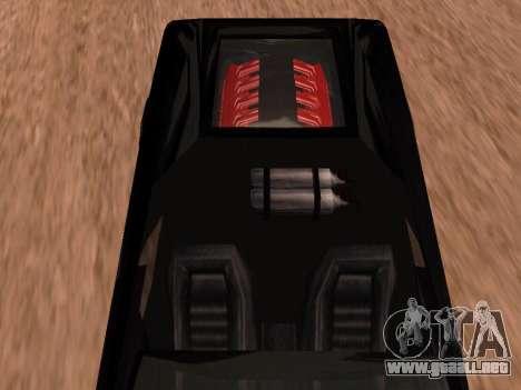 Sheetah Restyle para GTA San Andreas vista hacia atrás