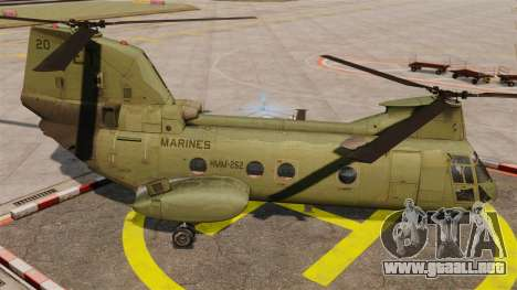 Boeing CH-46D Sea Knight para GTA 4 left