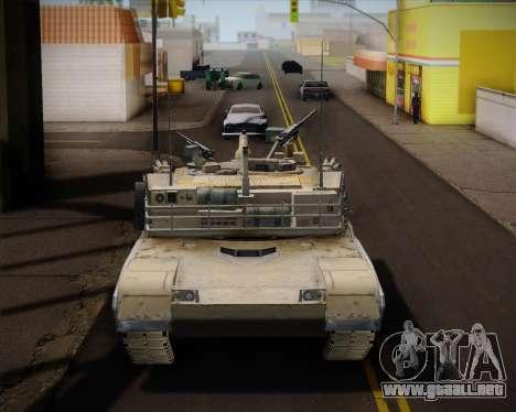Abrams Tank Indonesia Edition para GTA San Andreas vista posterior izquierda