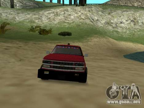 Chevrolet Silverado ATTF para vista lateral GTA San Andreas