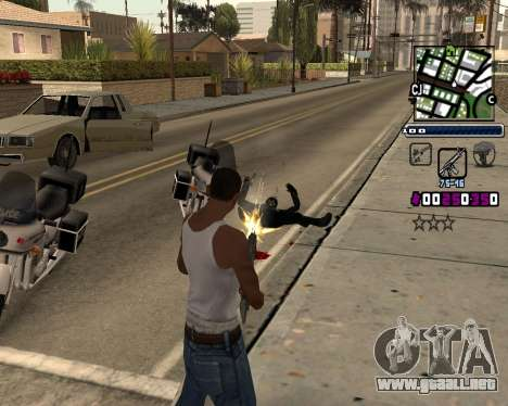 (C) HUD-por Gabbi_Stafford para GTA San Andreas segunda pantalla