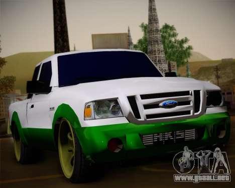 Ford Ranger 2005 para la vista superior GTA San Andreas
