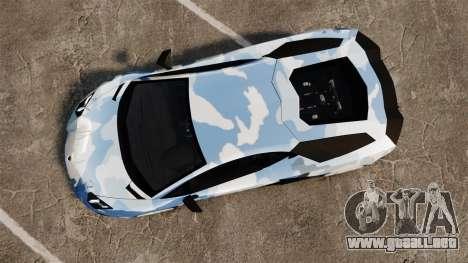 Lamborghini Aventador LP700-4 LE-C 2014 para GTA 4 visión correcta