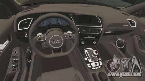 Audi RS4 Avant VVS-CV4 2013 para GTA 4 vista interior