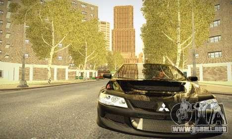 Mitsubishi Lancer Evo IX para visión interna GTA San Andreas
