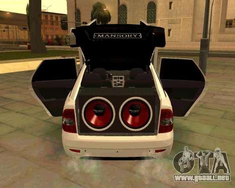 Lada 2172 Priora para la vista superior GTA San Andreas