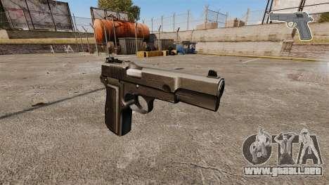 Carga automática Pistola Browning Hi-Power para GTA 4