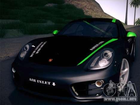 Porsche Cayman S 2014 para la vista superior GTA San Andreas
