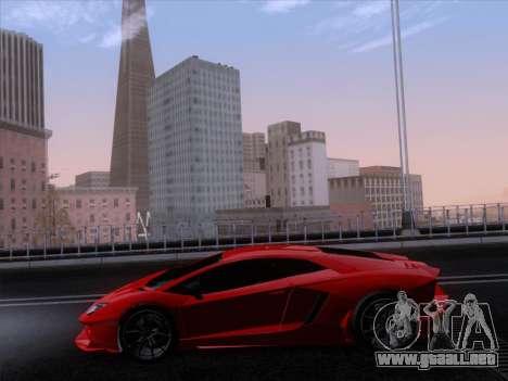Lamborghini Aventador LP720-4 2013 para vista lateral GTA San Andreas