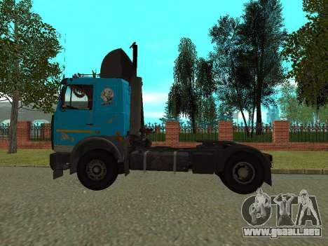MAZ 54320 para GTA San Andreas vista posterior izquierda