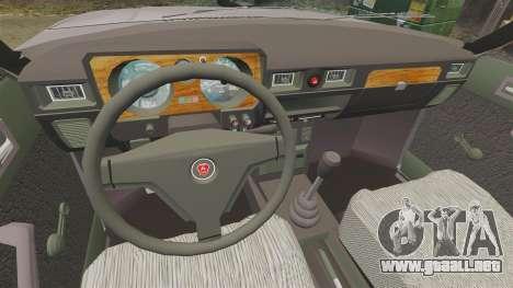 Gaz-31029 taxi para GTA 4 vista hacia atrás