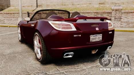 Saturn Sky Red Line Turbo para GTA 4 Vista posterior izquierda