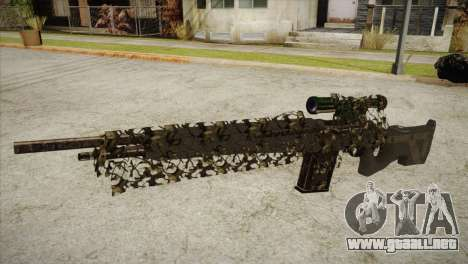 Sniper M-14 With Camouflage Grid para GTA San Andreas