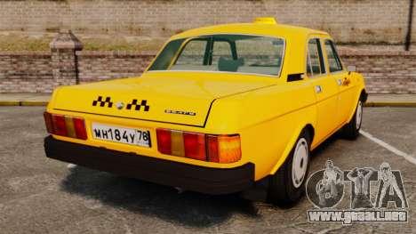 Gaz-31029 taxi para GTA 4 Vista posterior izquierda