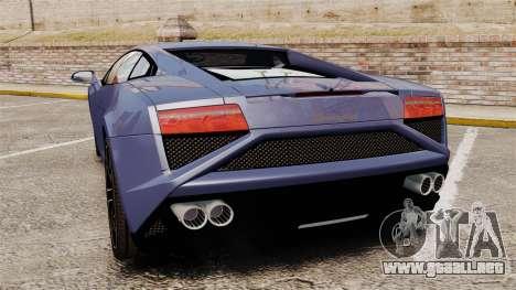 Lamborghini Gallardo 2013 para GTA 4 Vista posterior izquierda
